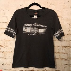 Women's Gray HARLEY-DAVIDSON Large T-shirt